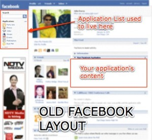Old Facebook application profile box