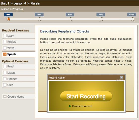 Speak: record audio