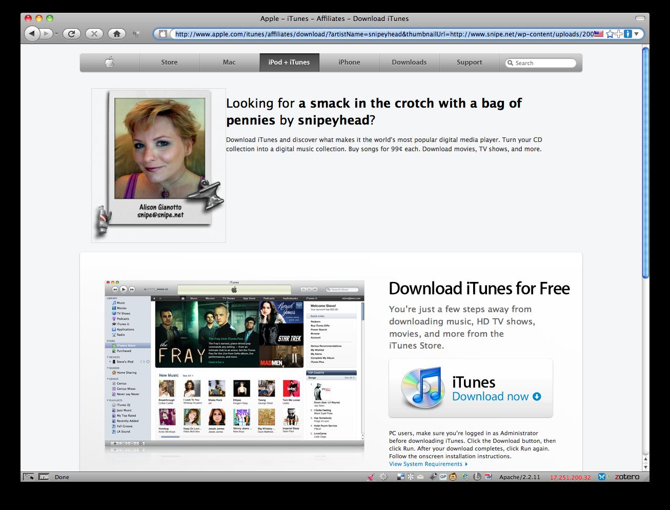Web 2-Point-Owned: Apple Com's XSS Exploit – Snipe Net