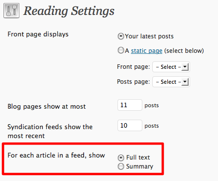 Reading Settings ‹ Snipe.Net — WordPress