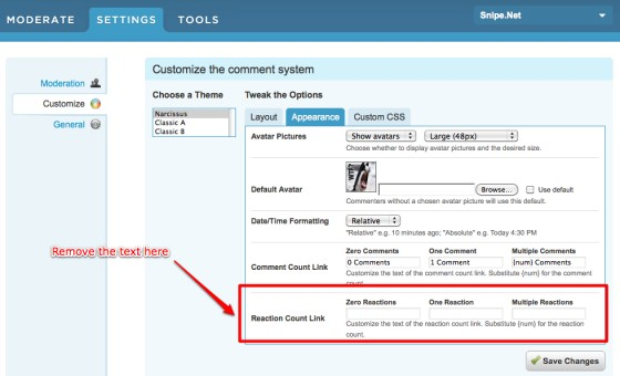 DISQUS Comments | Customize for snipenet-1