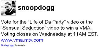 Snoop Tweet